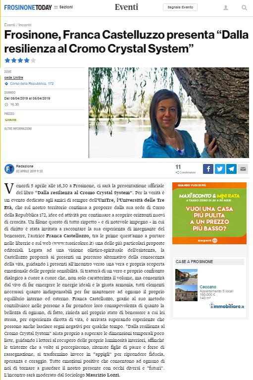 Franca Castelluzzo Presentazione Libro